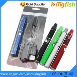Wholesale Kingfish E Cigarette - Kingfish Ego Electronic Cigarette vaporizer E Cigarette Kit EVOD battery mini ago dry herb vaporizer Atomizer blister evod kit cigarette