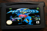 Wholesale Gba Free Shipping - Free Shipping Brand New Game Metroid Fusion Video Games GBA games Hottest Game