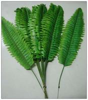 fotoalben kostenloser versand großhandel-Künstliche Seide Pflanzen Blatt Simulation Persian Grass Leaf Künstliche grüne Pflanze Blatt künstliche Blume DIY Hochzeit Wohnkultur
