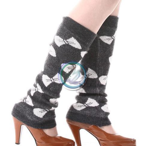 schwarz grau Kakhi Bogen Hinweis Stulpen Ballett Tanz Warm Up Crochet Gamaschen Boot Manschetten Strumpf Socken Boot Covers Leggings Tight # 3649