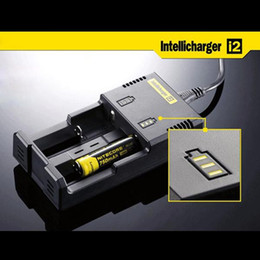 Wholesale Aa C - Intellicharger i2 Nitecore Universal Battery Charger With EU Plug For 26650 18650 14500 CR123A 16340 Ni-MH AA AAA C Battery(0205008)