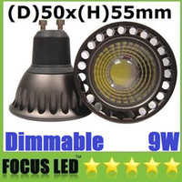 2014 New COB 9W GU10 Mini LED-Strahler High Power dimmbare LED-Lampen -Licht-warmes / reines / kühles weißes 110-240V / 12V + CER ROHS UL CSA