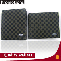 Wholesale Tartan Purse Wholesale - Exports brand quality classic fashion casual purse wallet Leather top purses mens Wallets With card holders 2 styles free shipping