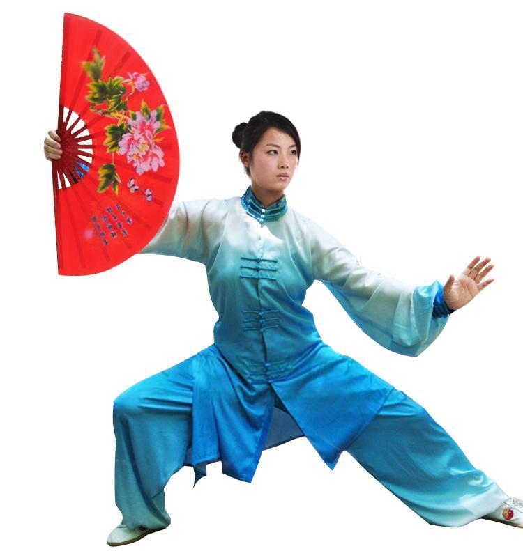 Chinesische Tai chi Uniform Kungfu Kleidung Taiji Schwert Kleidung Wushu Anzug Performance-Bekleidung Kampfkunst-Kostüm für Damen Kinder Mädchen Kinder