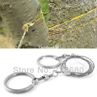 Wholesale wire saws - Free Shipping! Sporting Gifts Silver Steel Wire Saw Scroll Saw Emergency Hiking Camping Hunting Outdoor Survival Tool 203-0005