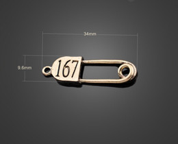 Wholesale Double Connector Charms - 13776 vintga Delicate small pins alloy Connector Charm Beads making Bracelet Double orifice connector