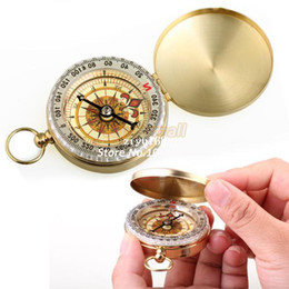 Wholesale Camping Watches Compass - High Quality New Delicate Brass Pocket Watch Style Outdoor Camping Compass 284
