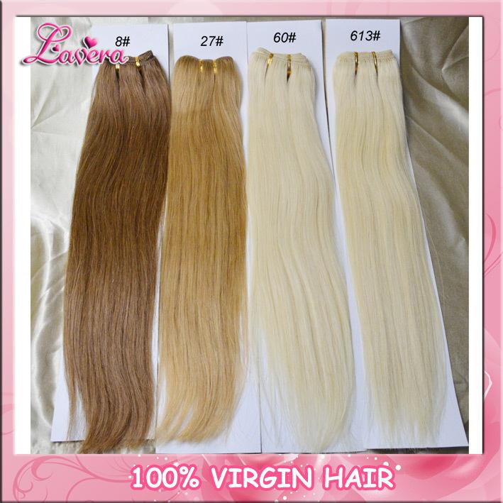 100 Human Hair Extensioncolor 8 27 613 Hair Wefts Brazilian