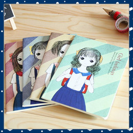 Wholesale A5 Book - [FORREST SHOP] Kawaii Korean Composition Notebook School Stationery Office Supplies Cute A5 Diary Paper School Note Book FRS-159