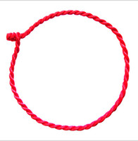 Wholesale Chinese Red String Bracelets - 1.5mm Chinese knot Natal Red string Weave Bracelets 1000pcs D211