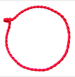 Wholesale Chinese Red Bracelet - 1.5mm Chinese knot Natal Red string Weave Bracelets 1000pcs D211
