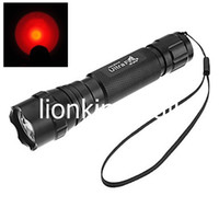 Wholesale Led Torch Tactical Usa - USA EU Hot Sel WF-501B Torch 1-Mode Cree Q5 Red light LED Flashlights for 1x18650 battery