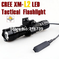 Wholesale Hunting Remote - USA EU Hot Sel WF-501B 5-Mode Cree XM-L2 LED Flashlight Tactical light with tactical mounts Remote switch