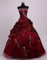 vintage wein prom kleider großhandel-2019 weinrot dracula mina film ballkleid vintage gothic viktorianischen cosplay kostüme maskerade halloween party abendkleider