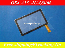 """Wholesale Touch Panel For Q88 - Wholesale-(Ref:JU-Q8 66 )50pcs  lot 7"""" inch LCD Screen touch panel digitizer glass for Allwinner A13 Q88 Q8 Tablet PC 173X105mm"""