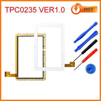 Wholesale Screen Sanei N91 - Wholesale-Free tools for 9inch Ampe A96 touch screen for Sanei N91 capacitive touch panel digitizer replacement TPC0235 ver1.0 white