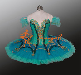 $enCountryForm.capitalKeyWord NZ - 2014 New Arrival!aquamarine Ballet Tutu,green classical ballet tutu with lace on the top layer;adult professional tutu