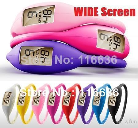 Wholesale- (Minimo Ordine 10usd) 1pc ION WATCH Sport orologio da polso in silicone Uomo Donna Silicon GLOW Jelly orologio 3ATM impermeabile 1ATM