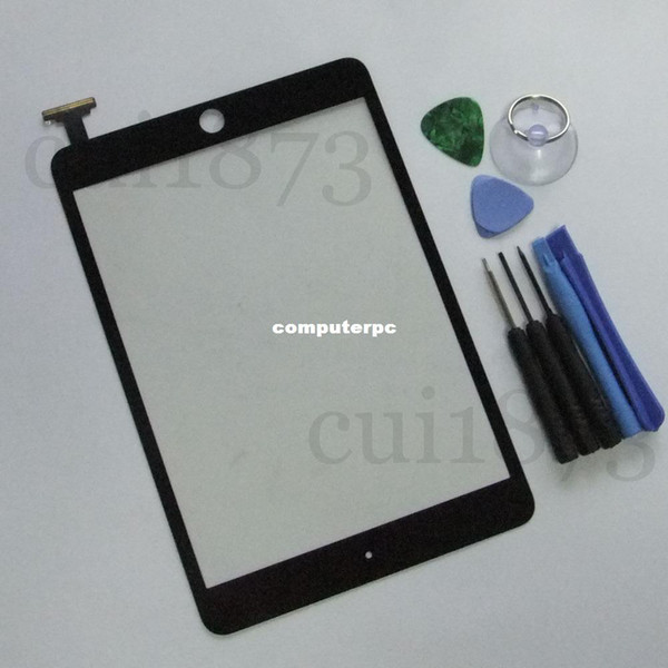 Wholesale-Best price Replacement Digitizer Touch Screen Replacement Glass for iPad mini BLACK+free Tools