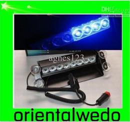 Wholesale Led Deck Lights Strobe - car 8 LED Dash Strobe Deck Flash Emergency Warning Lights Blue NEW new top sale
