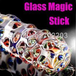 Wholesale Large Anal Stimulator - Free shipping sex products for woman magic transparent dildo crystal glass penis stick vagina stimulator sex toys