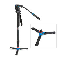 Wholesale Benro Tripods - DHL Free Benro Professional Aluminium Monopod + 3 Legs Support Stand Mount + Fluid Tripod Head A38TDS2 For DSLR Video Camera Camcorder