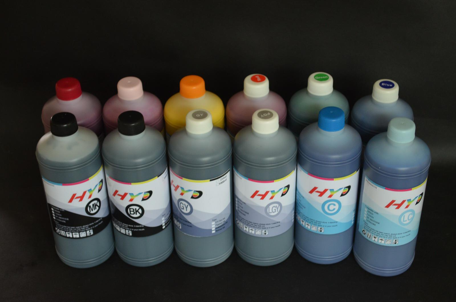 HYD 12 литров, 12 цвет-установил чернила пигмента LUCIA EX для канона imagePROGRAF iPF6300 .iPF6350 iPF6400 Ipf6450 Plotte (водонепроницаемый, Antu-UV) r