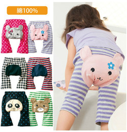 Wholesale Pp Pants Legging Cartoons - NEW Arrival Children Kids PP Pants Long Trousers Cartoon Legging Cotton Baby Boys Girls Wear HOT Sale