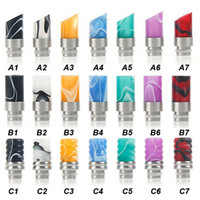 Wholesale Ego Ce6 Stainless - Fashion Style Acrylic Muffler Drip Tip Wide Bore Drip Tips Stainless Steel Atomizer Mouthpieces for 510 EGO CE4 CE6 Vivi Nova E Cig Tanks