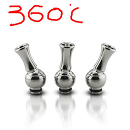 Wholesale Ego Steel Drip Tips - Stainless steel 360 degree rotating drip tips for eGo 510 Clearomizers adjustable drip tip for electronic cigarettes rotatable drip tip