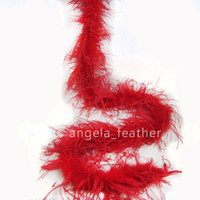 Wholesale Wholesale Red Boas - Wholesale - 1ply Red Ostrich Feather Boa for Arts and Crafts , any colors you can choose