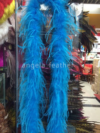 Feather Boa Decorations Canada - Wholesale - 1ply Turquoise Ostrich Feather Boa, feather boa, feather scarf ,party decoration, any color you can choose