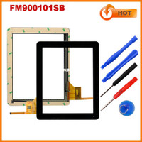 Wholesale Capacitive Touch Ic - Wholesale-High Quality and free tools for Capacitive Touch Screen Digitizer touch panel Glass for 9.7inch tablet PC FM900101SB with IC
