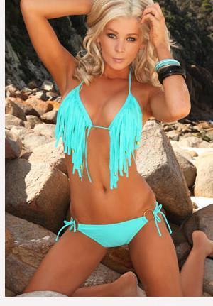 2016 Moda Seksi Kadınlar Bikini Yeni Plaj Püsküller Bikini Sheer Seksi Mikro Bikini Yetişkin Bayanlar Mayo Beachwear Banyo mayo BK1