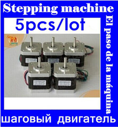 Wholesale Nema Stepper - 5 PCS Wantai 4-lead Nema 17 Stepper Motor 42BYGHW609 56oz-in 40mm 1.7A CE ROSH ISO CNC Laser Grind Foam Plasma Cut top sale wholesale free
