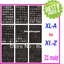$enCountryForm.capitalKeyWord Canada - Wholesale-Free Shipping Christmas Holiday XL Medium Size Stamping Image Konad Plate Retail A-Z Print Nail Art Large BIG Template DIY