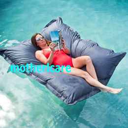 Wholesale Swimming Pool Bags - THE BIG BAG! - GIANT DARK GREY SWIMMING POOL BEAN BAG SHELL FLOAT TOY entertainment. ENJOY water sports