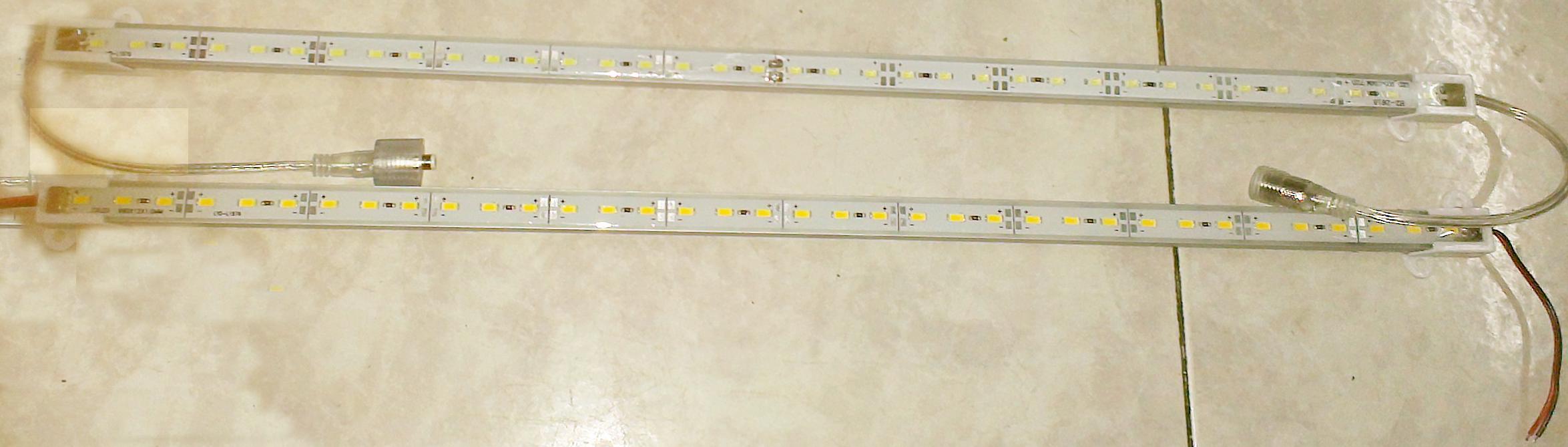 30X الصلب LED قطاع ماء IP68 5630 SMD دافئ أبيض جامد بار 36 المصابيح 0.5 متر الخفيفة مع