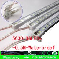 Wholesale Bar Meter - 30X Hard LED Strip Waterproof IP68 5630 SMD Warm White Rigid Bar 36 LEDs 0.5 Meter Light With