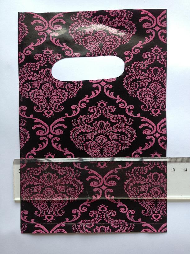 12.5*18.5 см 100 шт. / лот пластиковые бутик упаковка мешок цветок праздничный подарок ювелирные изделия торговый перевозчик мешок руки