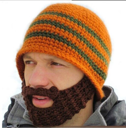 Wholesale Mustache Mask Face Warmer Ski - Full Beard Beanie Mustache Mask Face Warmer Ski Winter Hat Cap Gift Adult Unisex warmly hats Creative design hot sale Drop Shipping