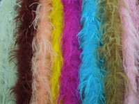 Wholesale Wholesale Ostrich Feathers Boas - New Arrival! 80 inch lengh OSTRICH FEATHER BOA Costumes Trim for Party Costume Shawl Craft 26colours Available FREESHIPPING