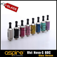 Wholesale Glass Vivi Nova - Wholesale - Newest Huge Vapor Aspire Vivi Nova-S BDC Clearomizer 3.5ml pure vivi nova-s glass version Clearomizer DHL Free