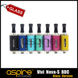 Wholesale Nova Vaporizer - Wholesale - Aspire vivi nova s BDC glass version atomizer glassomizer vivi nova-s BDC vaporizer bottom dual coil clearomizer DHL Free