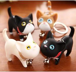 Llaveros amante del gato online-Nuevo Lindo Meow Cat Doll Llavero PU Amantes Estilos Recuerdos Llaveros de la Boda Llavero de Regalo de Moda 5 unids / lote
