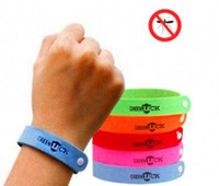 Wholesale baby mosquito bracelet - Mosquito Repellent Band Bracelets Anti Mosquito Pure Natural Baby Wristband Hand Ring
