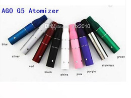 Wholesale Electronic Cigarette Herb Chamber - Ago G5 Atomizer Dry Herb Chamber Cartridge Vaporizer Clearomizer for Wind proof E-Cigarette Dry Herb Pen style Electronic cigarette e cig