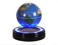 dekoration magnetische levitation großhandel-Neuheit 6-Zoll-magnetische Suspendierungs-Kugel mit sich hin- und herbewegender Kugel der LED-hellen magnetischen Levitation für Haupttabellendekoration-beste Geschenke Gute Qualität