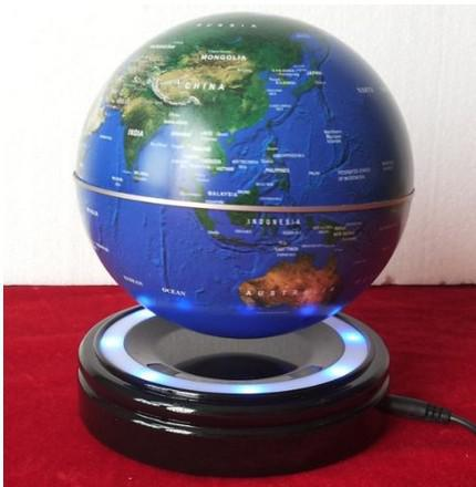 Novelty 6 Inch Magnetic Suspension Globe with LED Light Magnetic Levitation Floating Globe for Home Table Decoration Best Gifts Good Quality