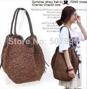 New Fashion Women Summer Straw Bags Tassel Beach Tote Shoulder Bag Handbags  Red Beige Brown Army Green D 1445 Leather Handbags Hand Bags From Allstars 47c07e2f98aa4